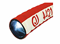 4421 Tank Truck Hose - Red Corrugated